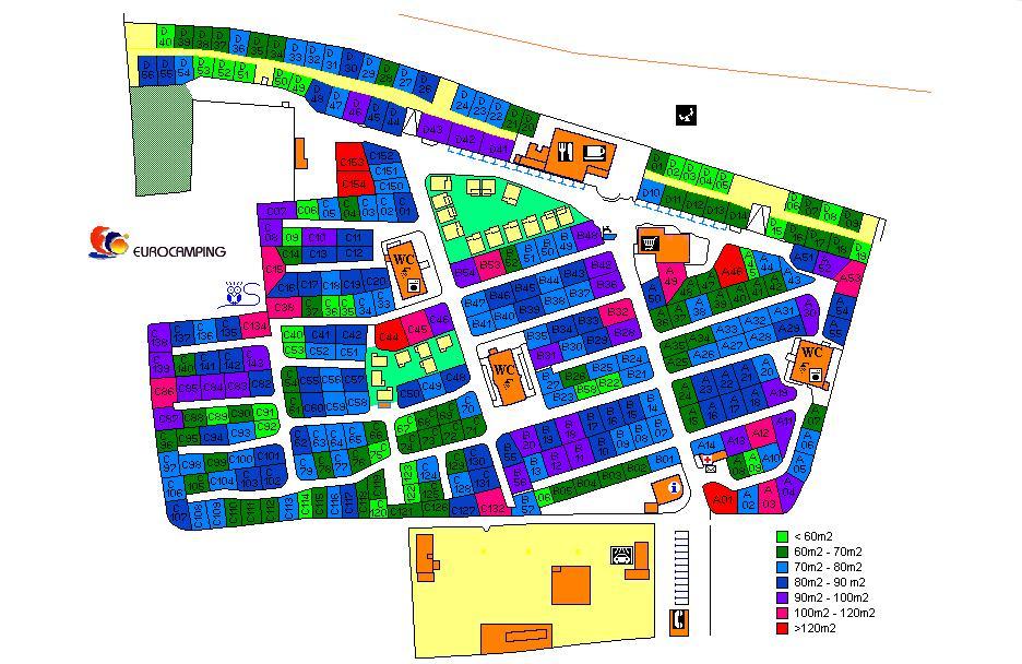 mapa eurocamping